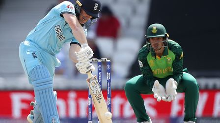 Engalnd's Eoin Morgan in action at The Oval, London.