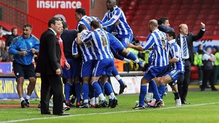 Gary Madine scored 18 goals as Sheffield Wednesday were promoted back to the Championship. Photo: PA