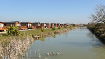 Holiday lodges at Stonham Barns Picture: SARAH LUCY BROWN