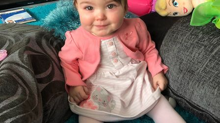 Milah Fisher was born three months premature. Picture: LEANNE FISHER