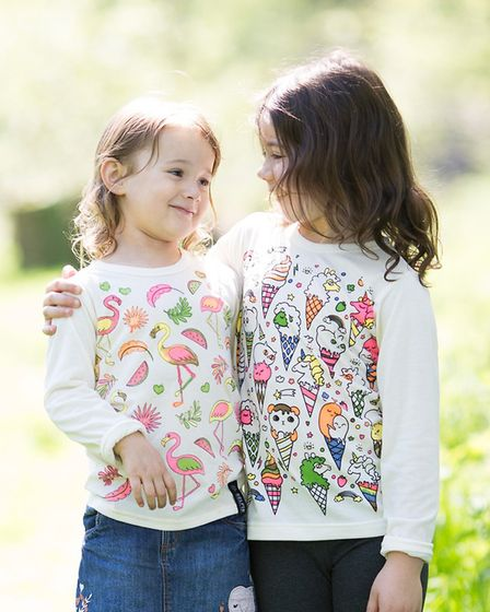 From left, Silva and Mya modelling Selfie Clothing tops Picture: SELFIE CLOTHING COMPANY