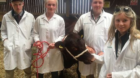 Otley-based Easton and Otley College students at the 2019 Suffolk Show Picture: JOHN NICE