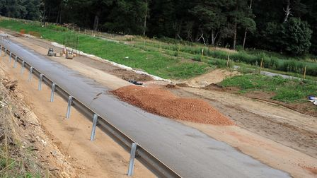 The A11 Elveden bypass when it was under construction. Picture: SONYA DUNCAN
