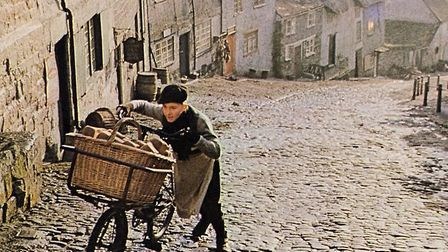Shot of the original 1970's Hovis 'Boy on Bike' advert. Picture: Hovis/PA Wire