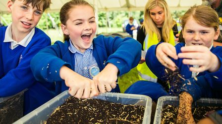 Children learning about growing plants at Essex Schools Food & Farming Day Picture: VICKY HOLMES PH