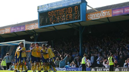 Leicester City march towards League One promotion with a 2-0 win at Southend in April 2009. Photo: P