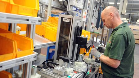 Manufacturing at the Bosch Lawn & Garden factory in Stowmarket. The company has announced manufactu