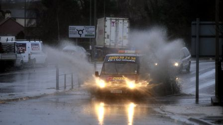 The Met Office warns heavy rain could cause localised flooding on Monday Picture: LUCY TAYLOR