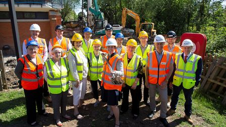 Work is officially underway to refurbish and extend Kingfisher Leisure Centre in Sudbury Picture: PH