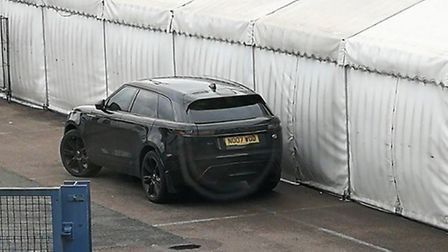 Is this James Norwood's car at Portman Road? Picture: OWEN FAYERS/TWITTER