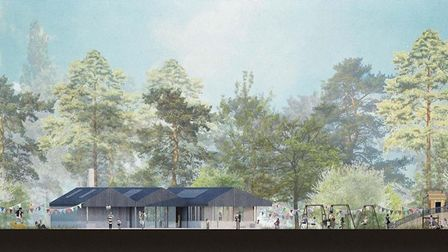 An artist's impression of the Audley End play area and new facilities Picture; AUDLEY END