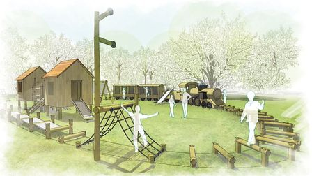 An artist's impression of the Audley End play area Picture; AUDLEY END