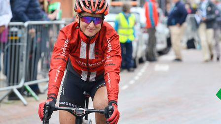 The 2019 OVO Energy Women's Tour first leg finish at Stowmarket. Picture: ARCHANT