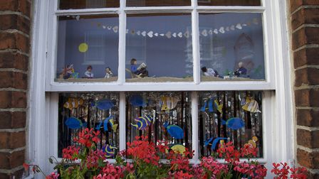 Sea windows: shops and houses are decorated for the Harwich Festival Photo: Harwich Festival
