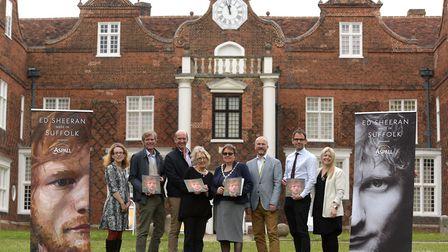 Christchurch Mansion will be hosting 'Made in Suffolk', an exhibition about Ed Sheeran. L-R Emma Ro