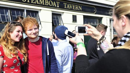 Ed performed at a secret gig at The Steamboat Tavern, Ipswich, in 2014 Picture: Lucy Taylor
