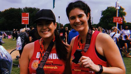 The sisters are taking part in the event in memory of friend Daniel Dewar Picture: SUPPLIED BY FAMIL