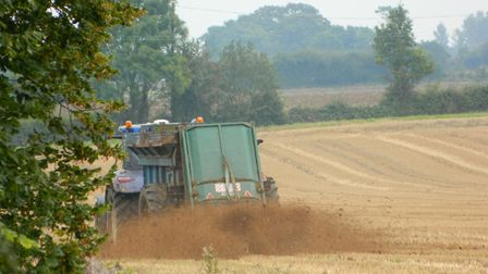 Ammonia is released when spreading muck over fields Picture: ALLISON BALAAM