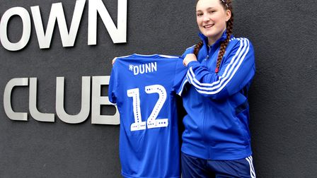 Chloe Dunn will wear number 12 for Town. Picture: ROSS HALLS