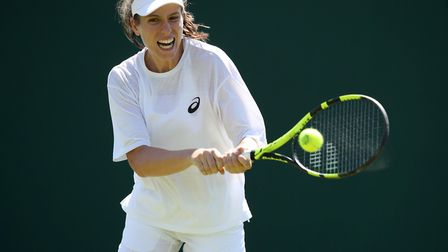 Jo Konta will be one of the favourites to win Wimbledon after her fine run in the French Open. Pictu