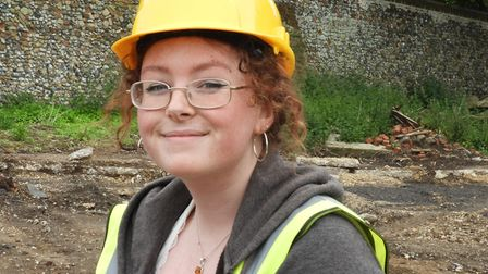 Amber Bentham who was among the community volunteers who took part in the archaelogical dig at the f