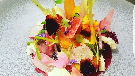 Barbecued beetroot and Lancashire bomb Picture: Maison Bleue