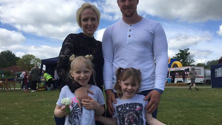 Linda and John Goodyear with their daughters Lilli and Bella at last year's Big Day Out family event