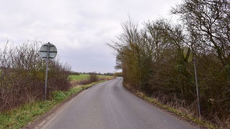 Possible sites in Suffolk for the proposed Northern bypass. Lower Road,Westerfield.