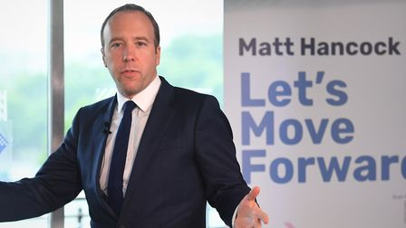 Health Secretary Matt Hancockis running for party leader but he hasn't got the support of any of hi