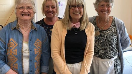 Members of the R&D Over 60s Club ready to serve refreshments at the Rendlesham show Picture: CAROLE