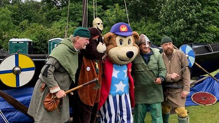 Anglo Saxons, a Beaver and Woody the mascot - All Creatures Great, at the Rendlesham show Picture: