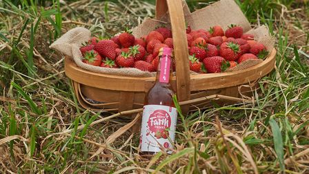 Strawberries and juice at Barn Farm Picture: Barn Farm/Emma Kindred