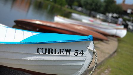 Boats lining the edge of Thorpeness Meare. Picture: SARAH LUCY BROWN