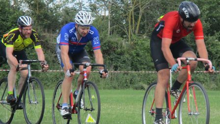 Malcolm Borg (West Suffolk Whs, right) and Stephen Upson-Smith (Plomesgate CC). Picture: FERGUS MUIR
