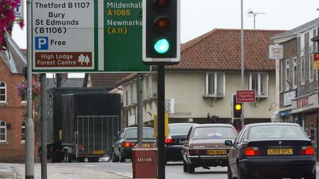The dualling of the A11 has contributed to increased traffic in Brandon town centre, a councillor ha