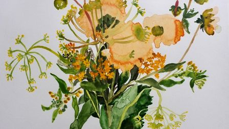 Blooms in June by Jelly Green, part of the The English Country Garden exhibition at Somerleyton Hall