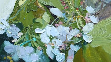 Apple Blossom by Jelly Green, part of the The English Country Garden exhibition at Somerleyton Hall