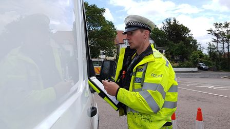 Police officers checked that vehicles were fit for road use during a multi-agency day of action in F