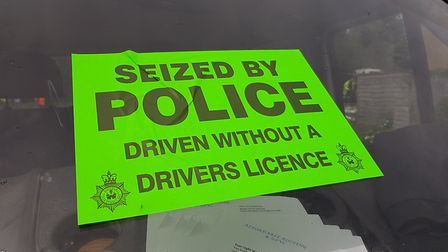 Two vehicles were seized by Suffolk police Picture: RACHEL EDGE