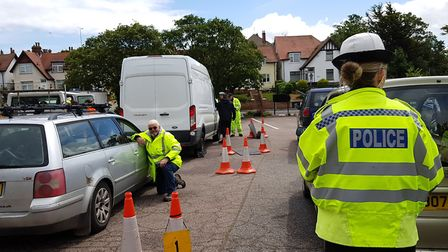 A multi-agency day of action was held in Felixstowe on Thursday Picture: RACHEL EDGE