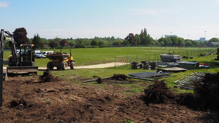 Construction work has started on the new Abbeygate Sixth Form College in Bury St Edmunds Picture: DA