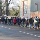 People from Long Melford on the Save Our Skylark Fields march Picture: RICHARD MICHETTE