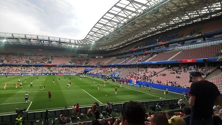 Over 13,000 fans flocked to see England beat Scotland 2-1 Picture: KATY SANDALLS