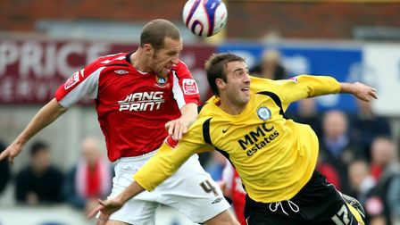 Glenn Murray (right) in action for Rochdale. Photo: PA