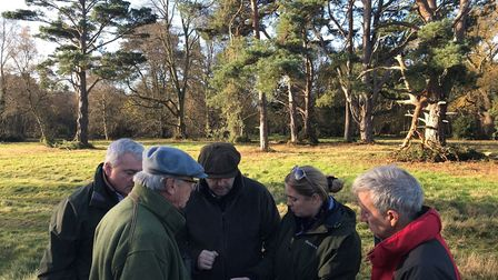Ken Hill management team planning a new rewilding project Picture: Dom Buscall