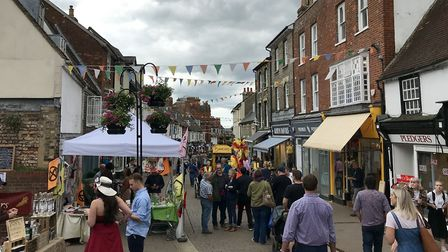 Crowds of people enjoyed the festival, which celebrates independent traders Picture: MICHAEL STEWARD
