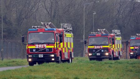 Three fire crews tackled a blaze at a community building in Parkeston Picture: PHIL MORLEY