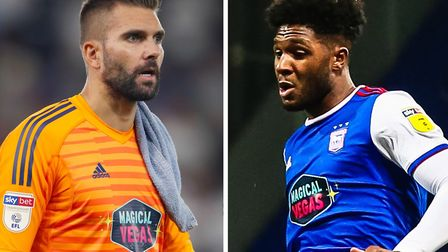 Bartosz Bialkowski and Ellis Harrison are set to leave Ipswich Town. Picture: ARCHANT