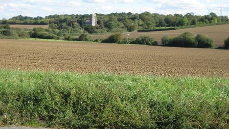 The view from Poplar Hill, the road where the development will be built. Picture: IAN CLARK