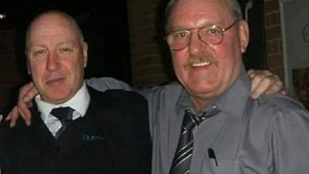 Malcolm Thompson (left) with his good friend and 'hero' Kevin Beattie. Picture: v